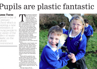 Pupils are plastic fantastic – Western Morning News